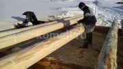 Обработка бревна рубанком компания Комель