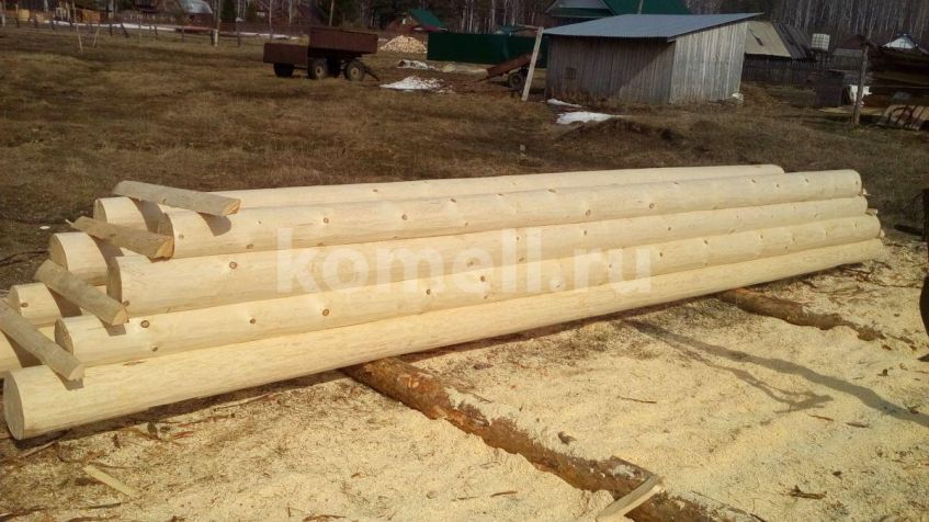 Рубленные фронтоны Сруба из сосны 6.5*6.5 в Екатеринбурге