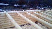 Подстрапильные балки  Сруба из сосны 6.5*6.5 в Екатеринбурге
