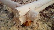 Сруб 5*4 из зимнего леса в чащу