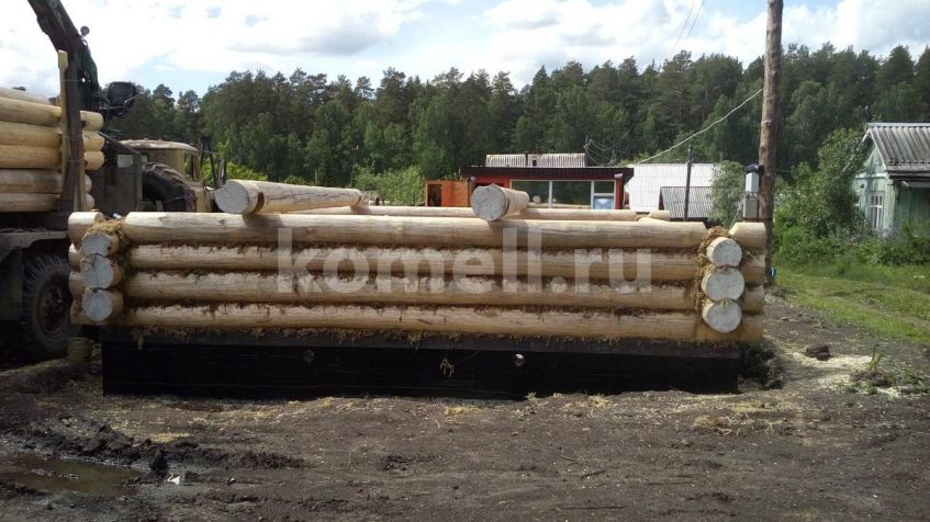 Монтаж сруба 6.5*6,5 под дачный дом из зимнего леса Полевской компания Комель