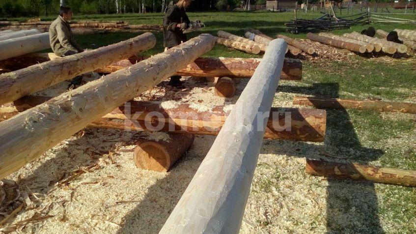 Сруб 6*6 из сосны в чашу из зимнего леса в п.Кладовка Полевской район