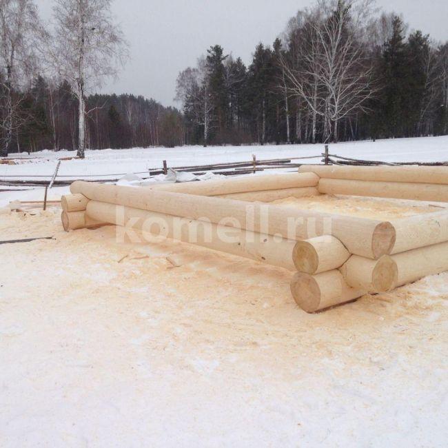 Сруб 7 на 7 Баня в Полевском из сосны зимний лес